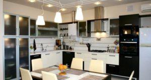 Пример правильного освещения кухни