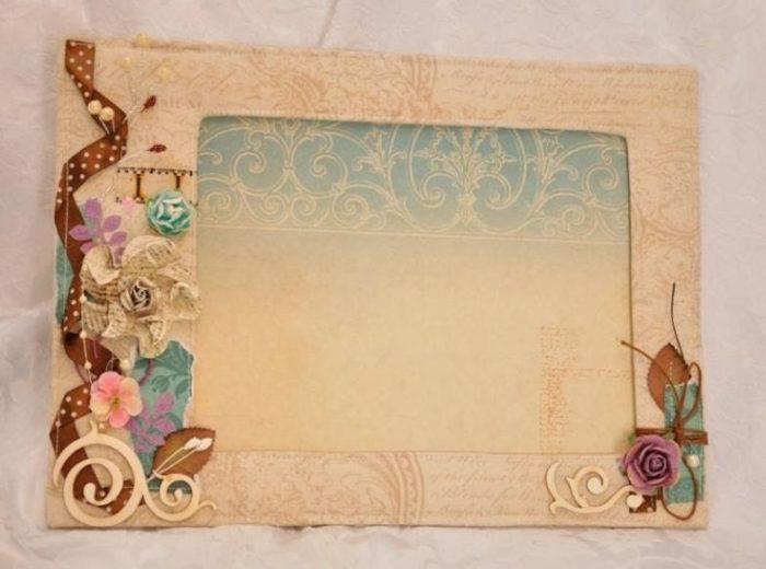 Рамка из картона для мамы