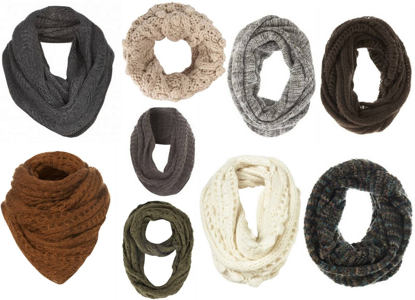 схема вязка шарфа хомута