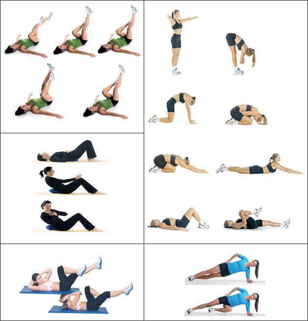 упражнения для похудения живота и рук