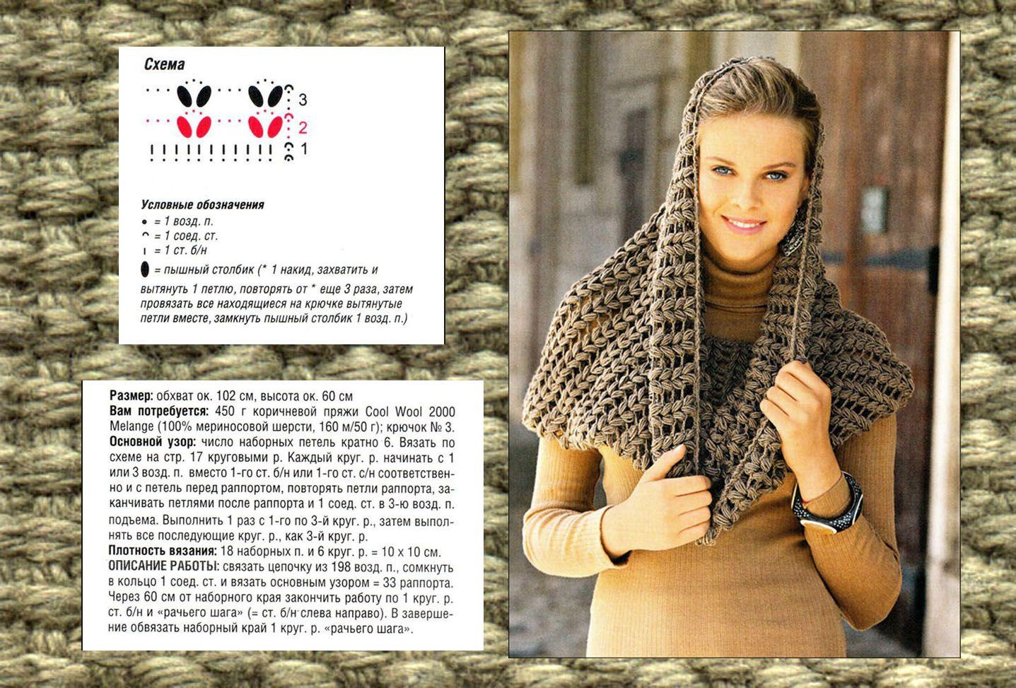 Вяжем шарф-хомут: инструкция и схема