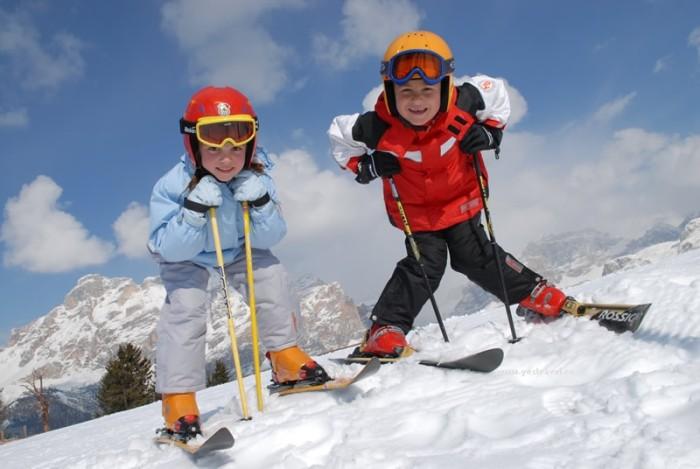 Учимся катанию на лыжах
