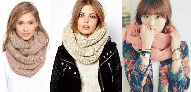 Как завязать шарф хомут