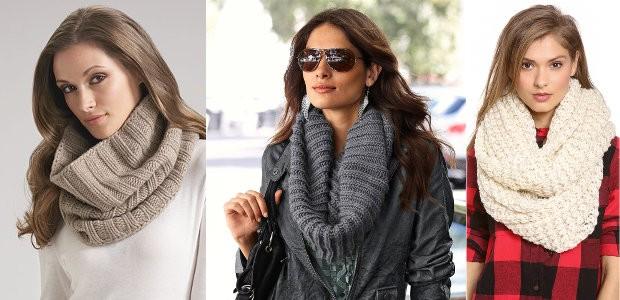 Как носить шарф снуд: способ первый