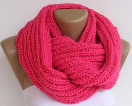 шарф-снуд спицами для начинающих самые простые
