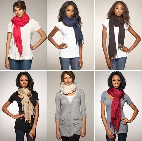 Завязываем шарф оригинально