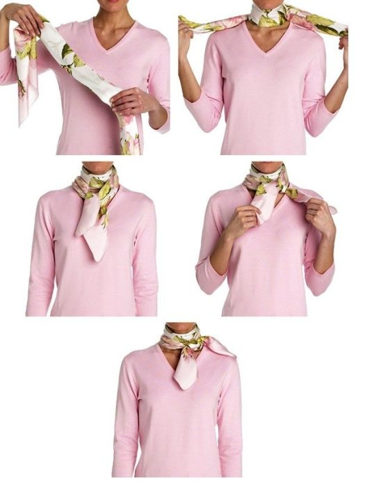 Завязываем платок на шее