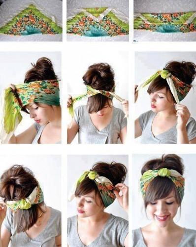 Красиво завязываем платок на голове
