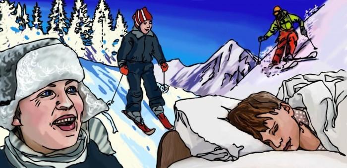 К чему снится катание на лыжах