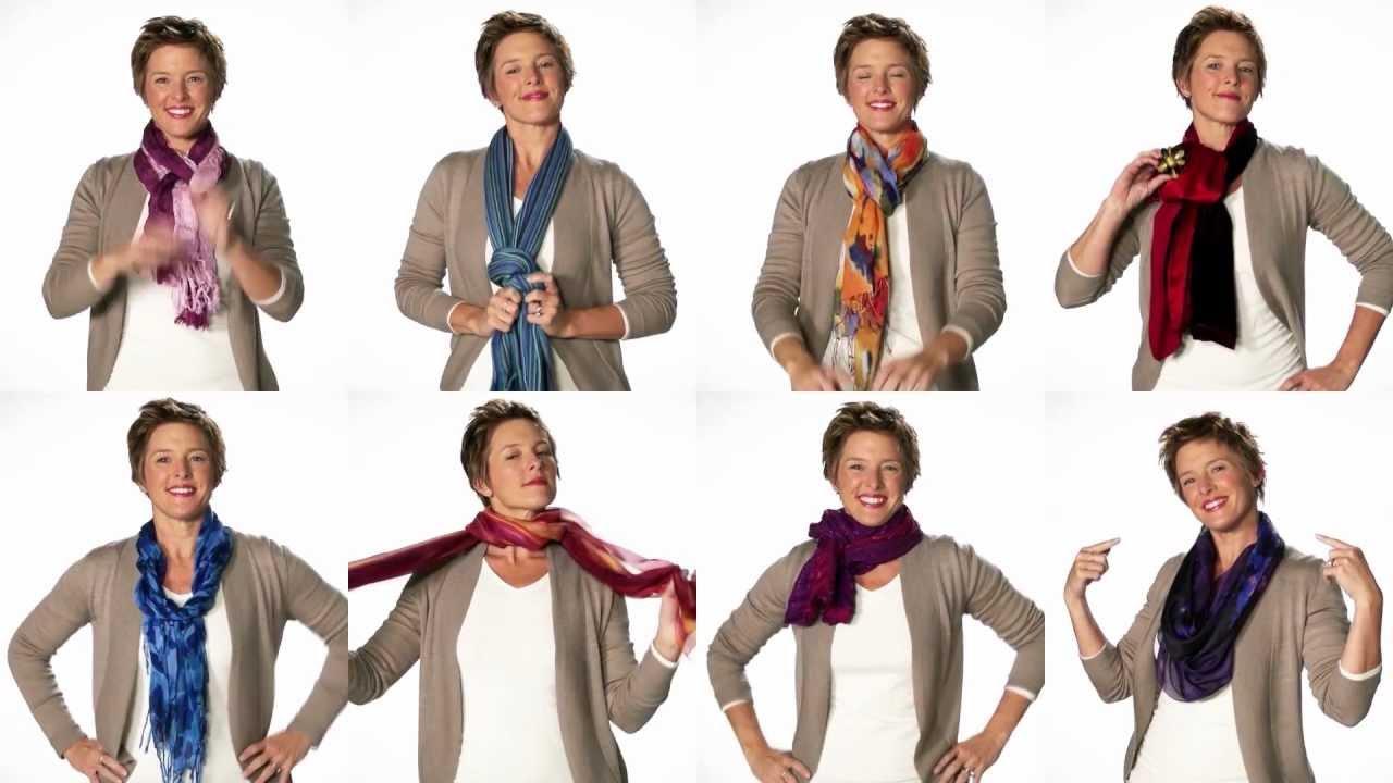 Красиво завязываем шарф разными способами