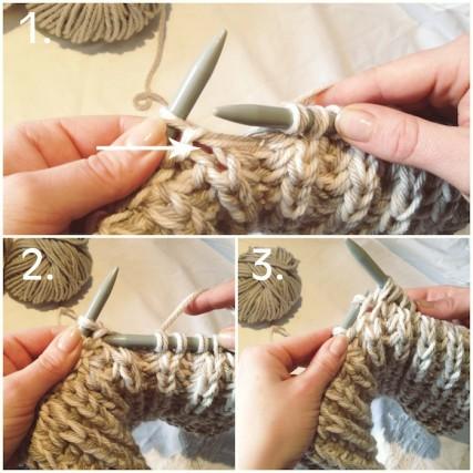 Вяжем шарф-хомут английской резинкой