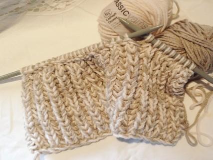 Вязание хомута спицами резинкой