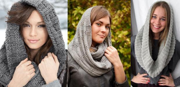 Как носить шарф-хомут: способ третий