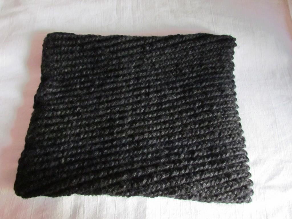 Вяжем шарф-хомут спицами 23