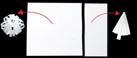 Как сделать елочку и шар из бумаги