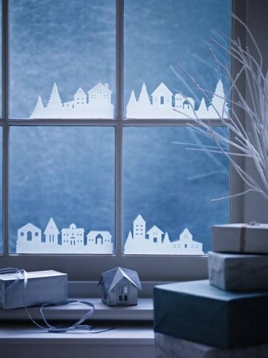 Декорируем окна на Новый год
