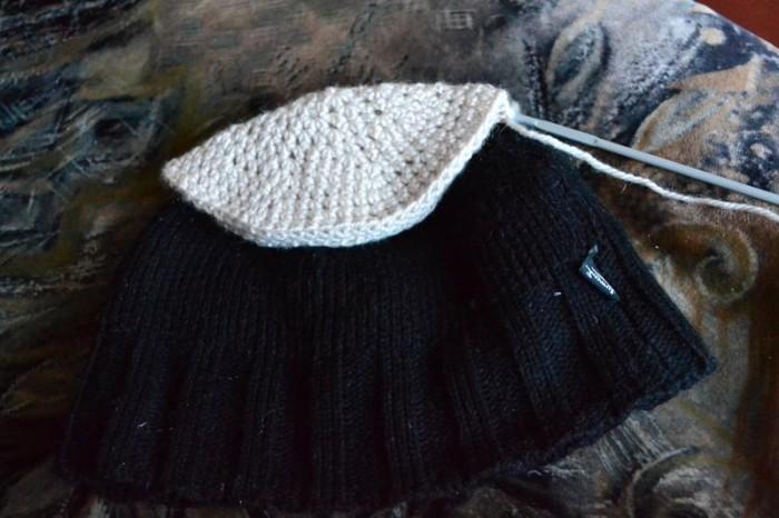 Вяжем шапку крючком шаг 10