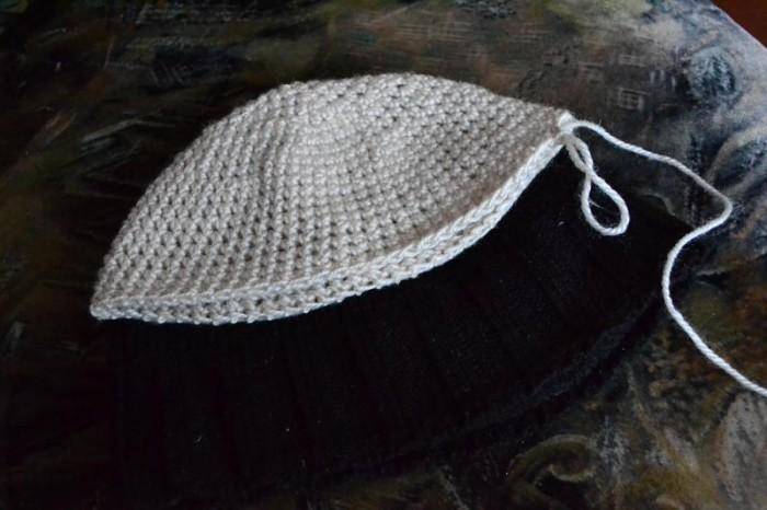 Вяжем шапку крючком шаг 11