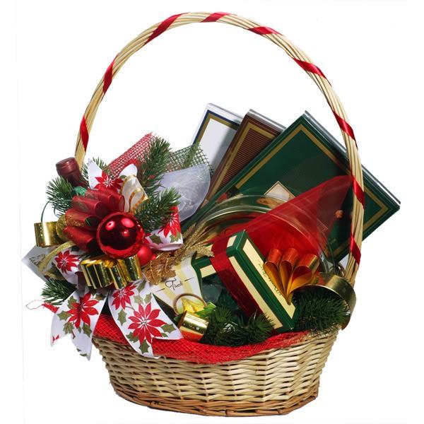 Оформление корзины с подарками