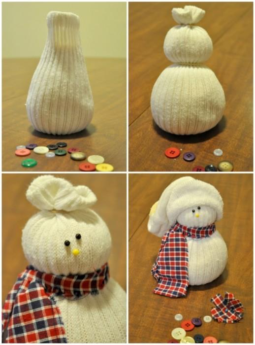 Как сделать своими руками снеговика в домашних условиях 2
