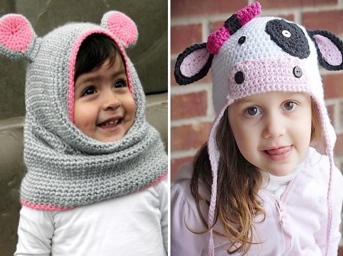 Красивые шапки для девочки
