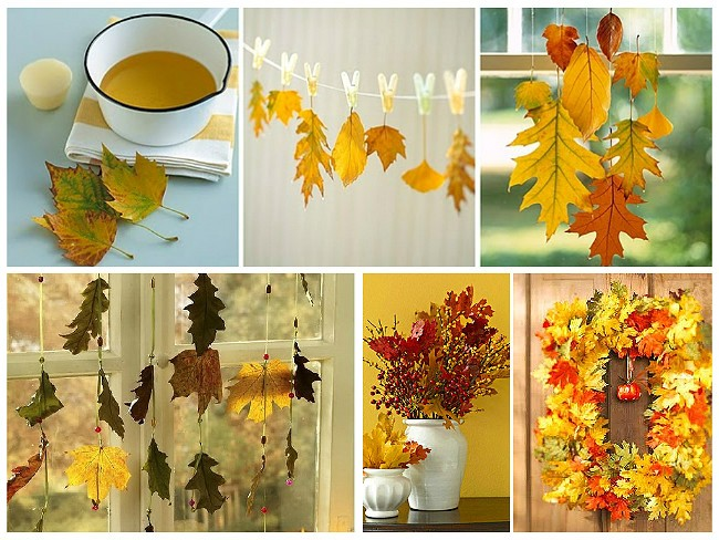 Осенние гирлянды из листьев