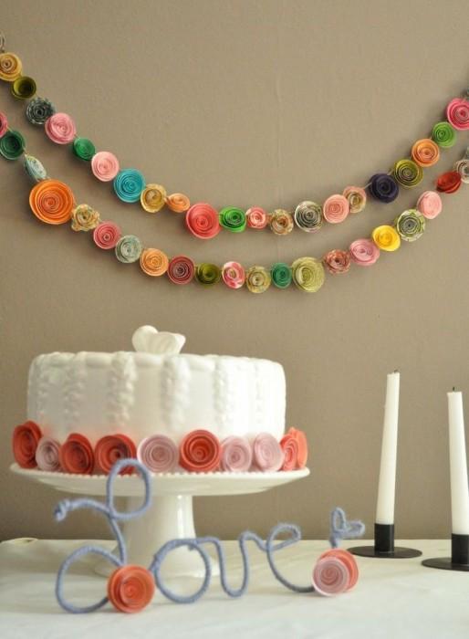 Свадебные гирлянды из бумаги