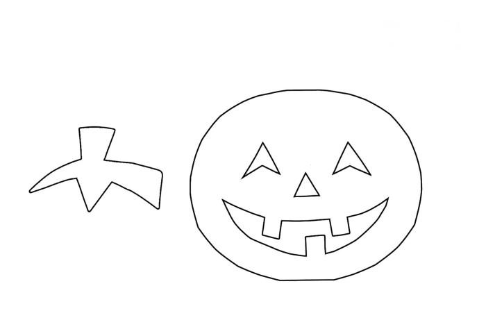 Украшение из бумаги на Хэллоуин
