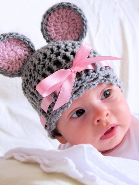 Прикольная шапка для новорожденных