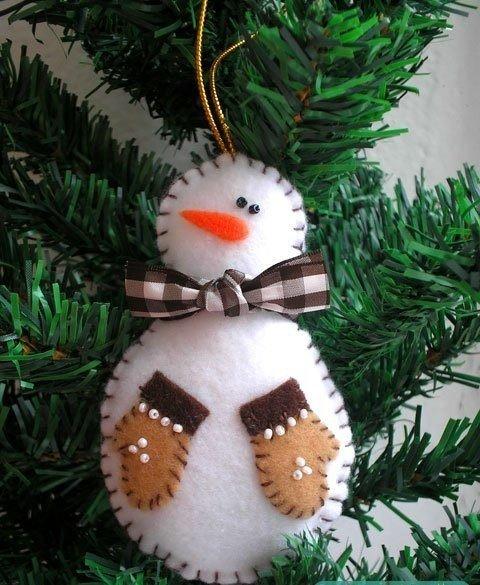 Мастерим снеговичка из фетра
