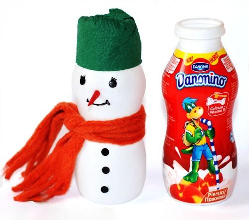 Поделки снеговика своими руками из бутылок