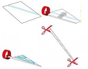 Как сделать волшебную палочку из бумаги: шаг 1