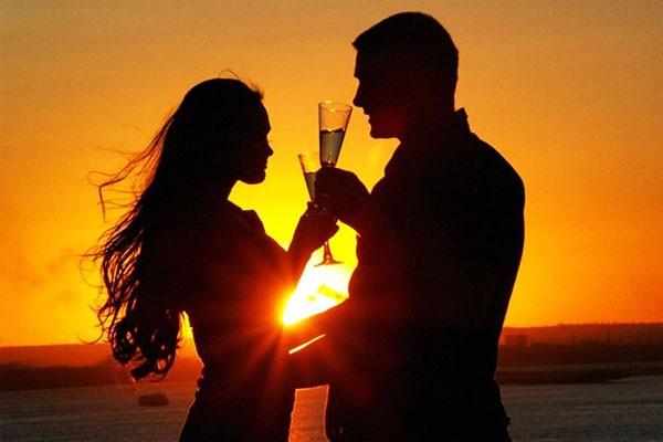 Романтика при закате