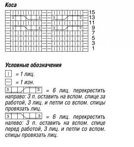 Схема вязания жилета со сьемыми рукавами