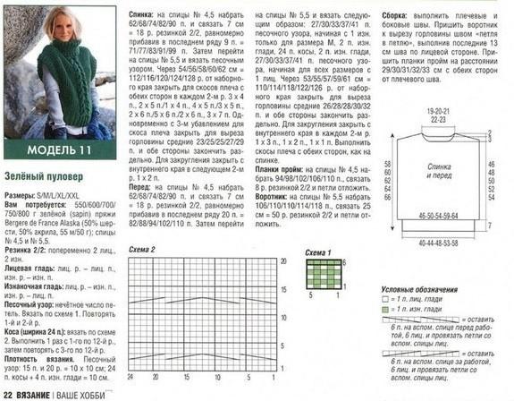 Как связать пуловер без рукавов - схема и описание