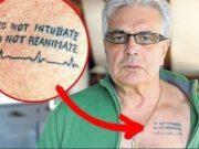 Татуировка «Не реанимировать» на теле врача
