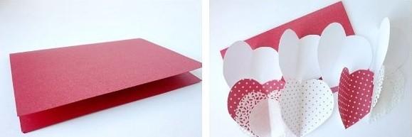 Как сделать валентинку из бумаги шаг 2