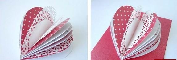 Как сделать валентинку из бумаги шаг 3