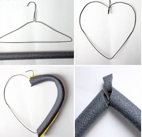 Как сделать валентинку из помпонов шаг 1