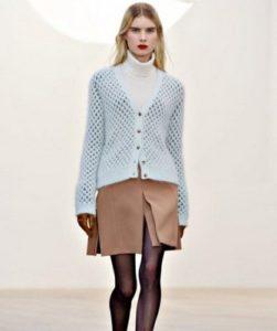 Модные модели вязаных кофт 2016