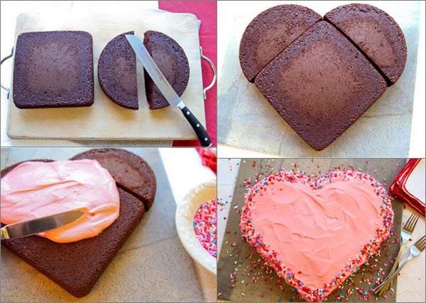 Торт-валентинка на 14 февраля