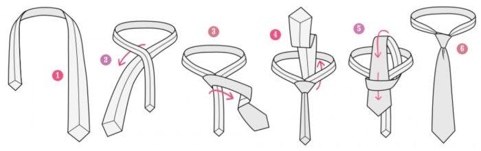 Как завязать галстук в простой узел?