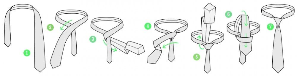 Как завязать галстук в стиле четвертной узел?