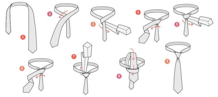Как завязать галстук двойным узлом?
