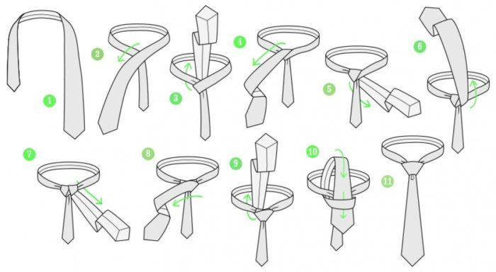 Как завязать галстук в стиле Виндзор