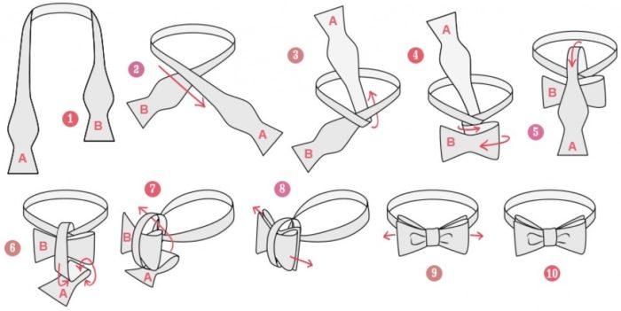 Как завязать галстук-бабочку?