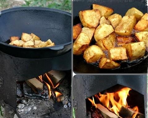 Как приготовить картофель в казане