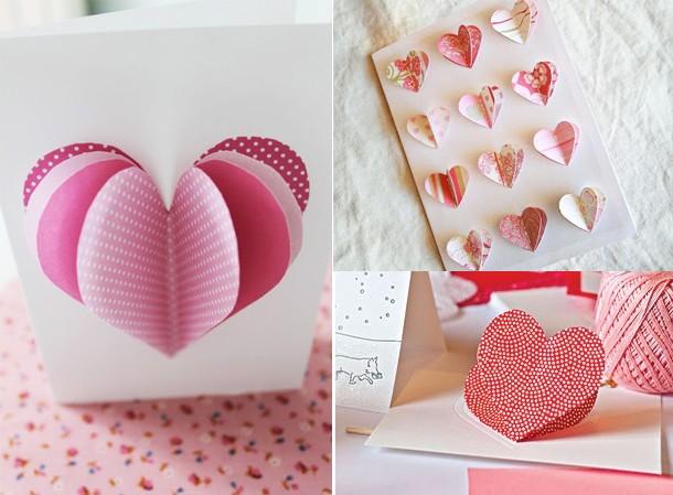 Как сделать валентинку своими руками из бумаги фото