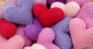 Сердечки вязаные