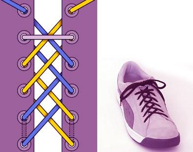 Завязываем шнурки: способ 1